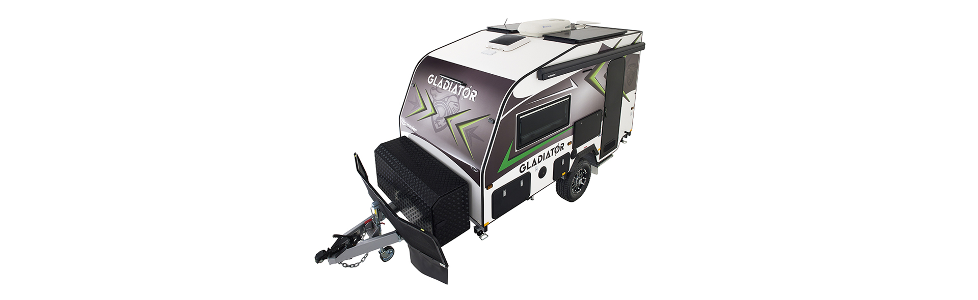 Tuffride 2.7 tonne independent suspension protects the caravan on those rough corrugated roads.