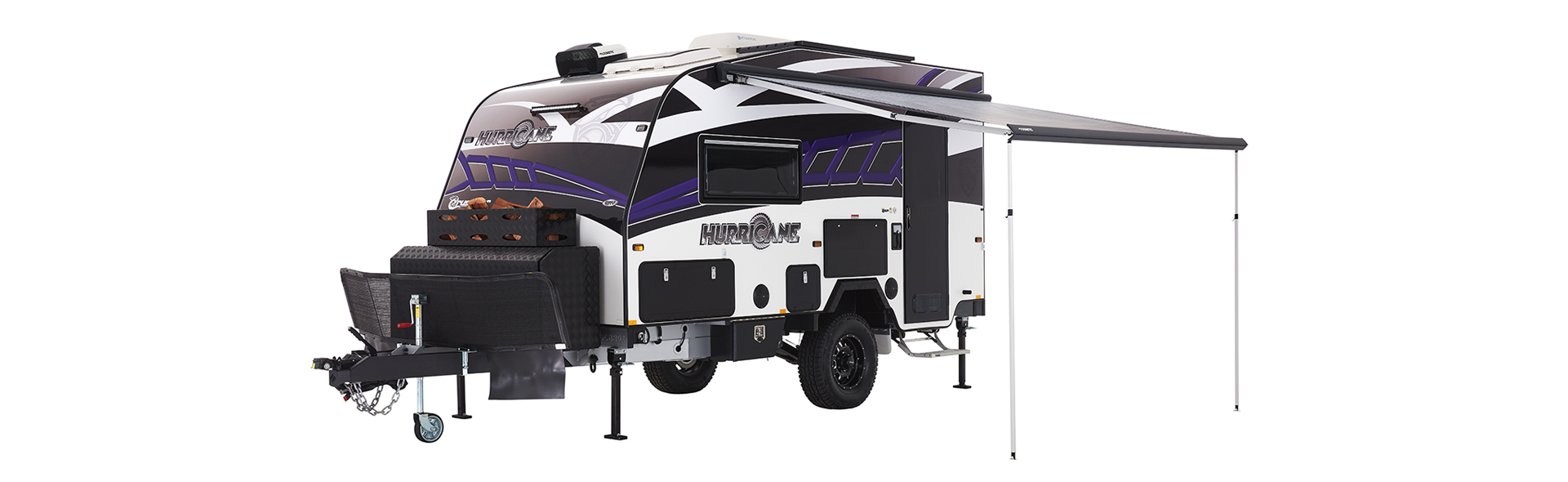 The Hurricane has a 3.5 metre wind out awning so you can sit back and relax outside, come rain or shine.