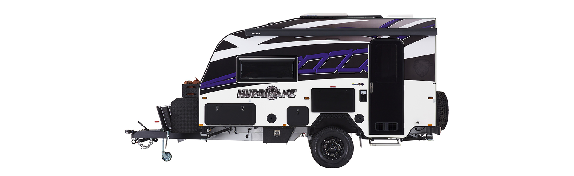 This is one awesome looking caravan packed with everything you'll ever need for an off the charts adventure.